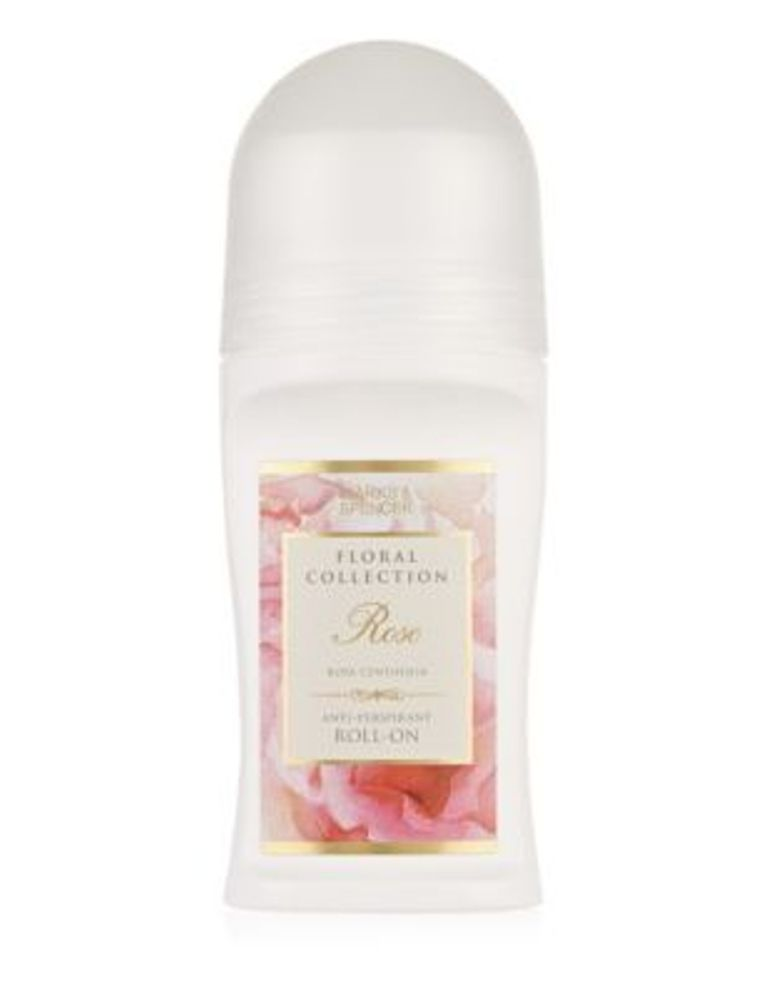 Floral Collection Rose Anti-Perspirant Roll-On Deodorant