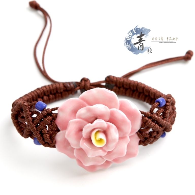 Jingdezhen-handmade-jewelry-of-exquisite-colorful-ceramic-flowers-woven-bracelet-Bangle-jewellery-B16_6