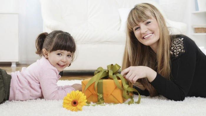 Mother-getting-gift-from-daughter