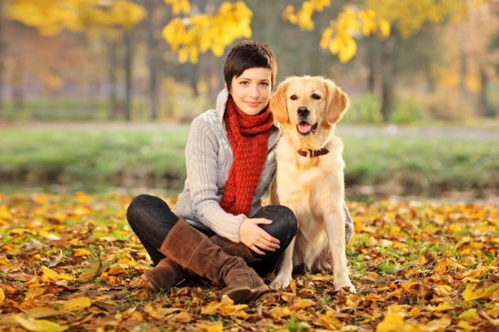Young-Mother-and-Dog