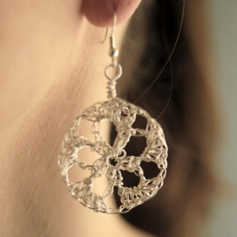 crochet wire earrings tutorial