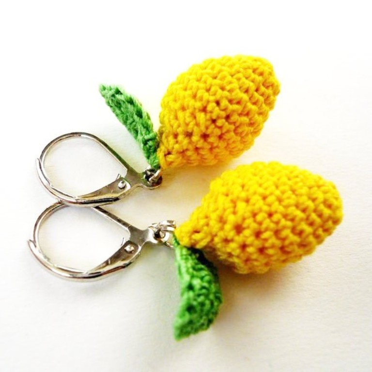 lemon-crochet-earrings