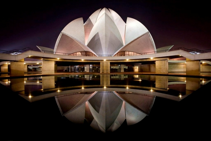 lotus-temple-night