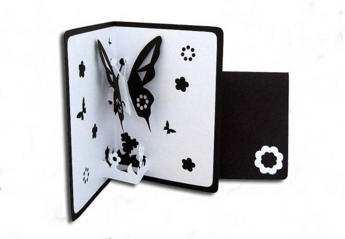 original_butterfly_pop_up_card_black