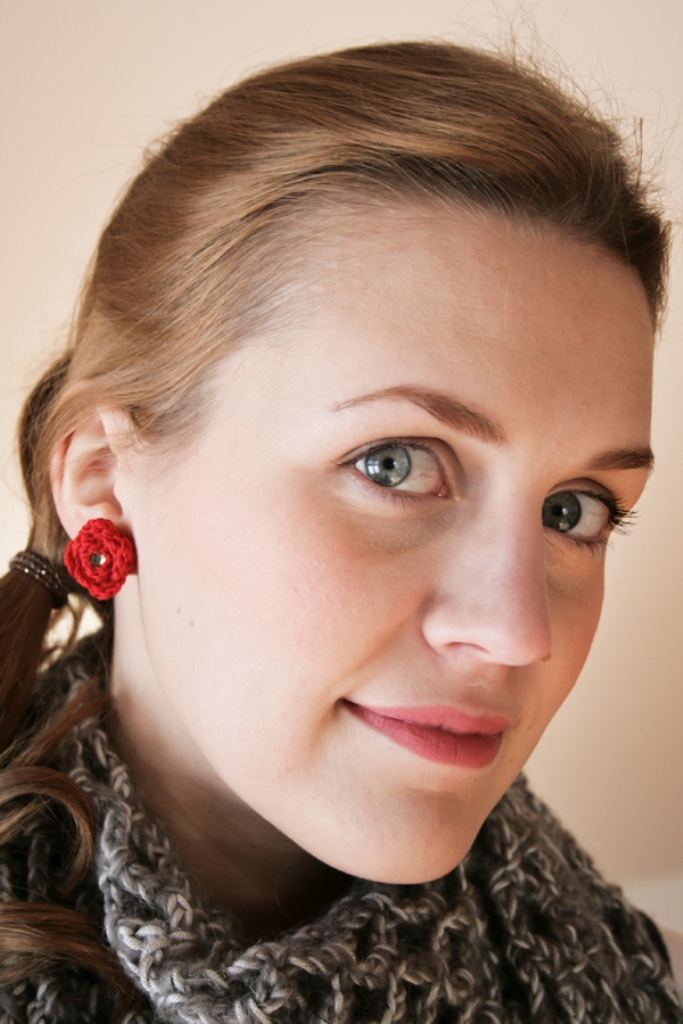 rose crochet earrings 2