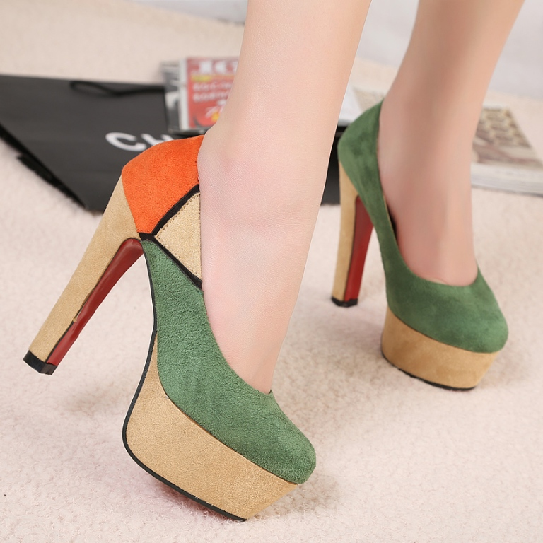 126--shipping-new-arrival-beautiful-Hot-selling-colorant-match-platform-thick-heel-single-shoes-women-s-126