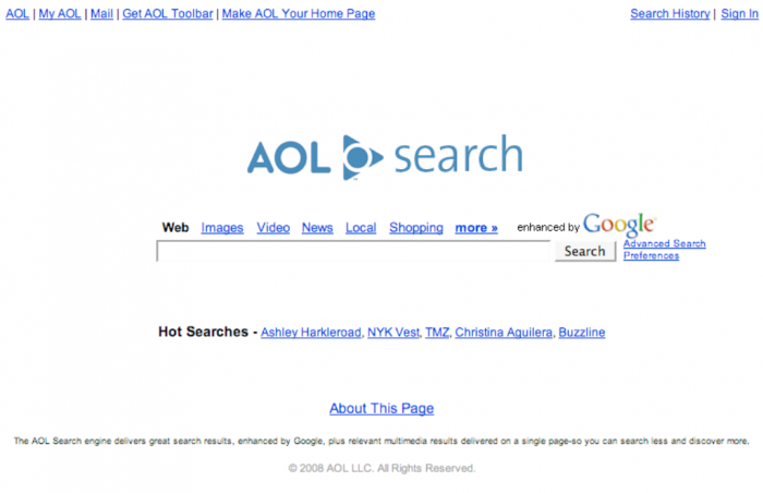 AOL search home