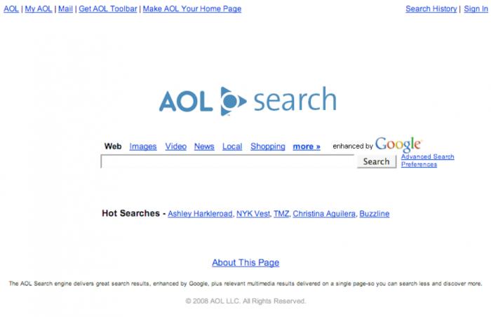 AOL search home