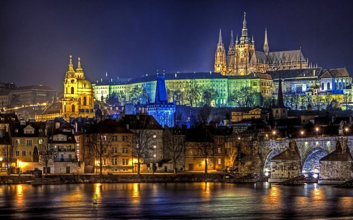 Prague-Night-view-Czech-Republic