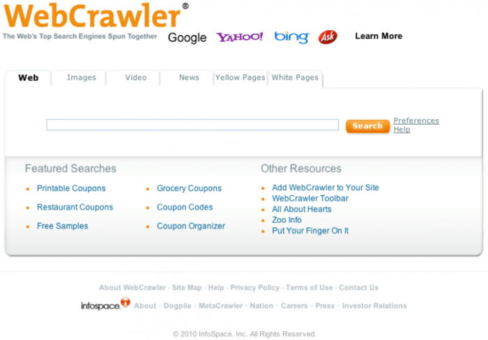 WebCrawler_Screenshot_6-7-2010