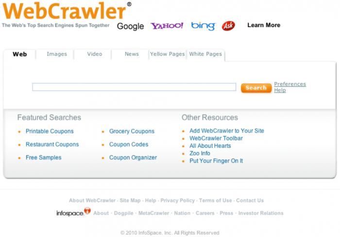 WebCrawler_Screenshot_6-7-2010