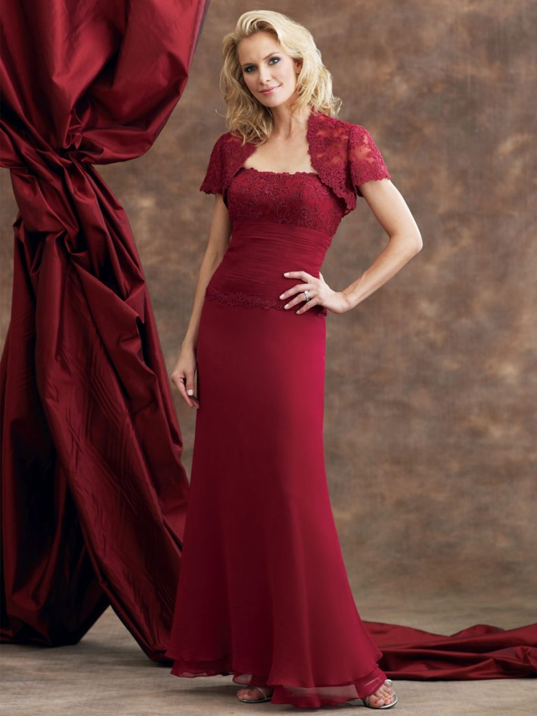 red mother of the bride dress b