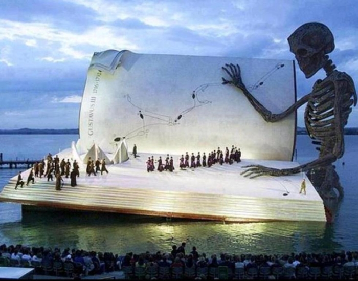 Floating Stage in Bregenz, Austria.
