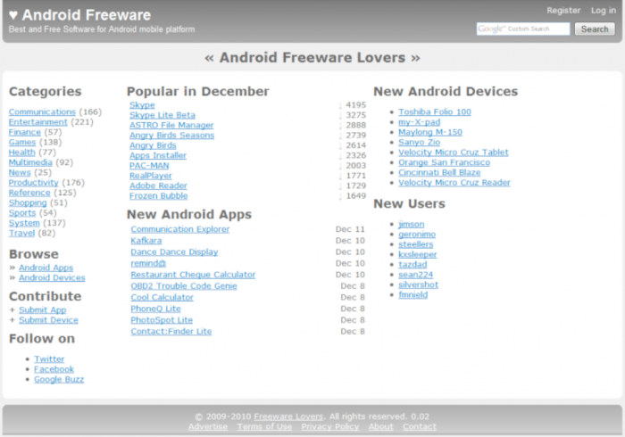 top 10 free android apps websites