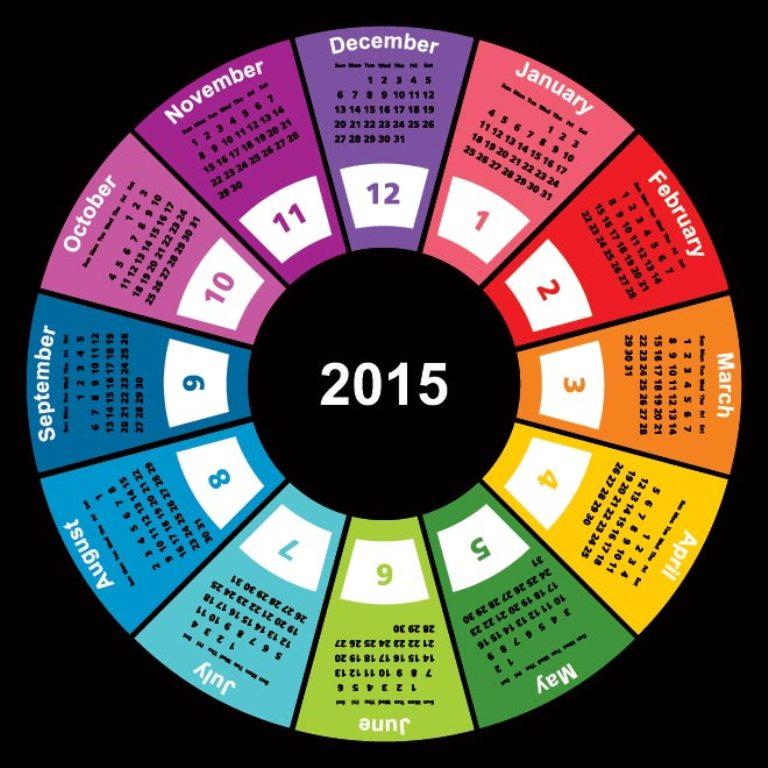 1022-Geometric-shape-2015-vector-calendar