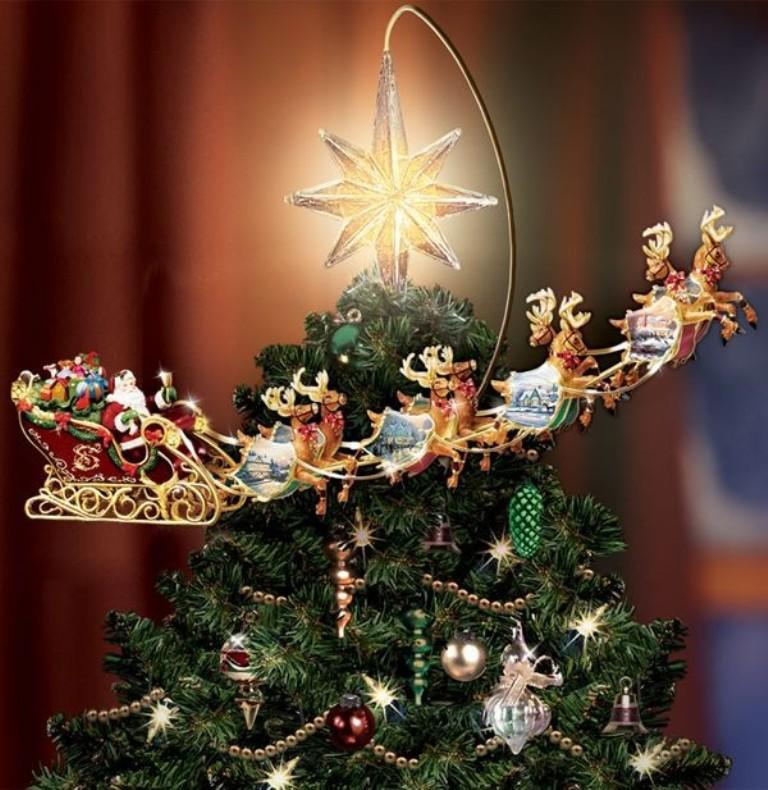 2013 christmas tree topper star christmas tree topper for 2013 santa and reindeer christmas tree orn-f21020