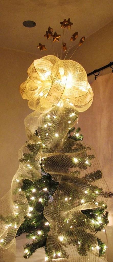 2013 Christmas Tree Topper White Christmas Tree Topper For