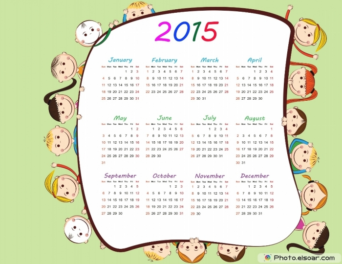 2015-Abstract-printable-calendar-with-children