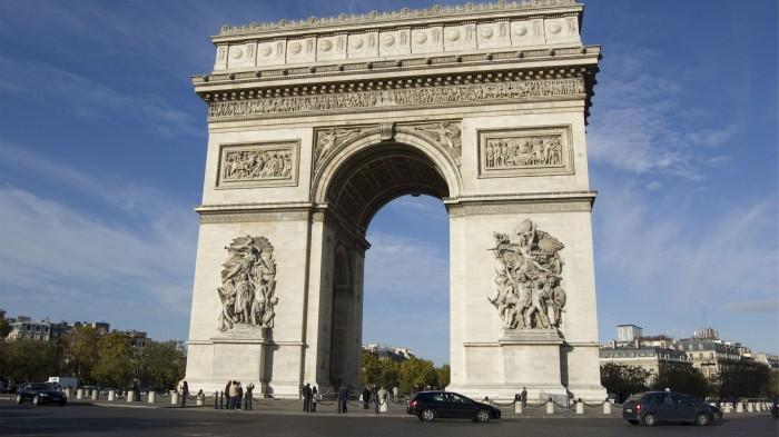 6         arc de triomphe paris france