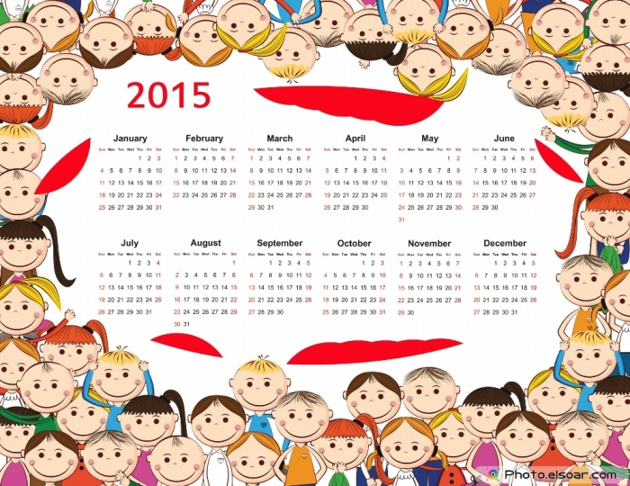 Cute-2015-Calendar-for-Kids