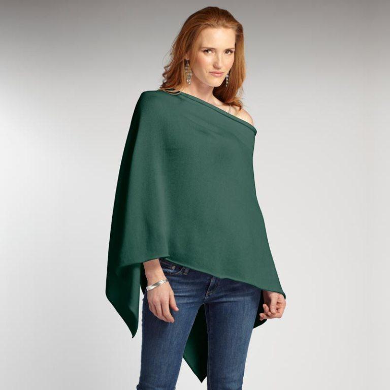 S24111-womens-organic-cotton-Fiesta-Poncho-cypress-green
