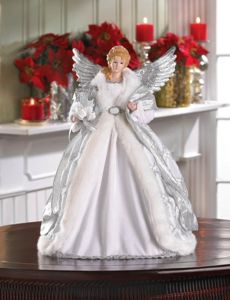 WHITE ANGEL DOLL & TREE TOPPER