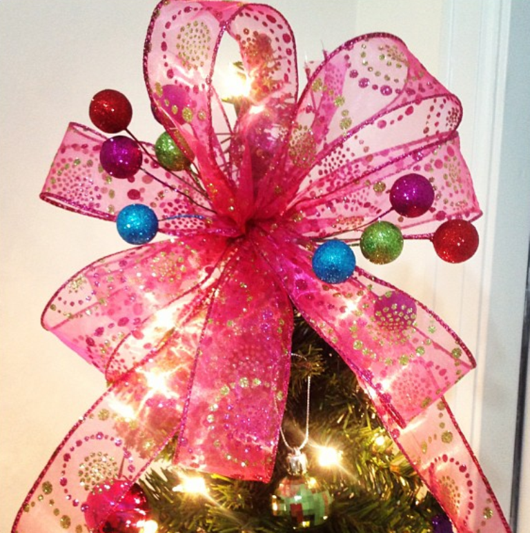 Decorate Christmas Tree With Bows : Top most unique christmas tree toppers