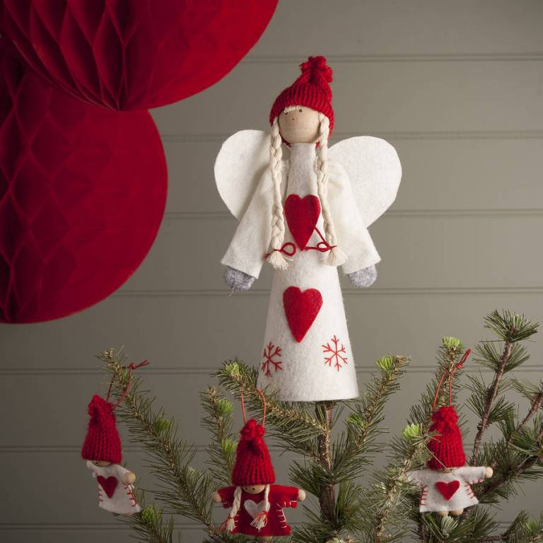 Original nordic angel tree topper for Angel christmas tree decoration