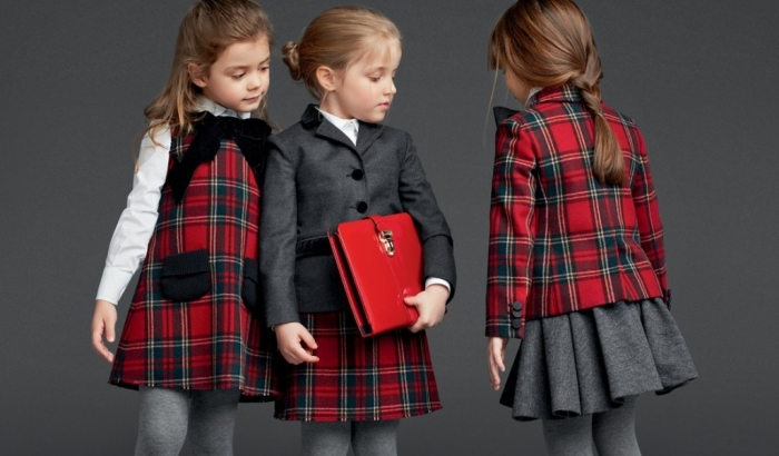 05-Dolce-and-gabbana-childrenswear-fall-winter-2014-collection-for-back-to-school-2013-tartan-blazer-dress-and-skirt