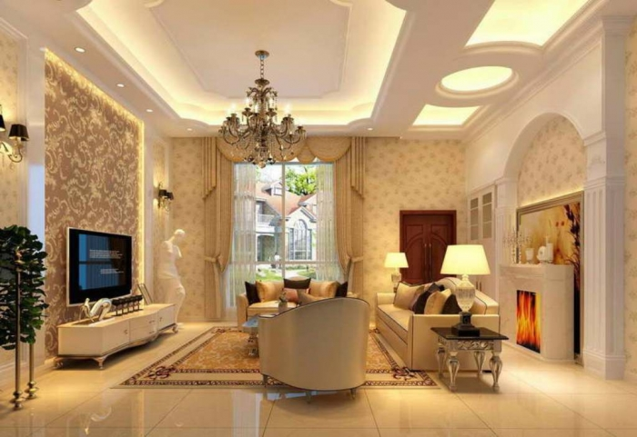 Ceiling-Design-With-Decorative-Lighting