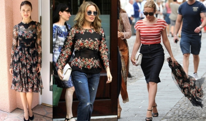 Dolce-and-gabbana-fall-winter-2014-poppy-print-dresses-on-celebrities-like-kylie-minogue-kareena-kapoor