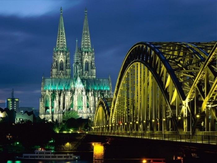 Germany Cologne_Cathedral_Hohenzollern_Bridge_Germany_tourism