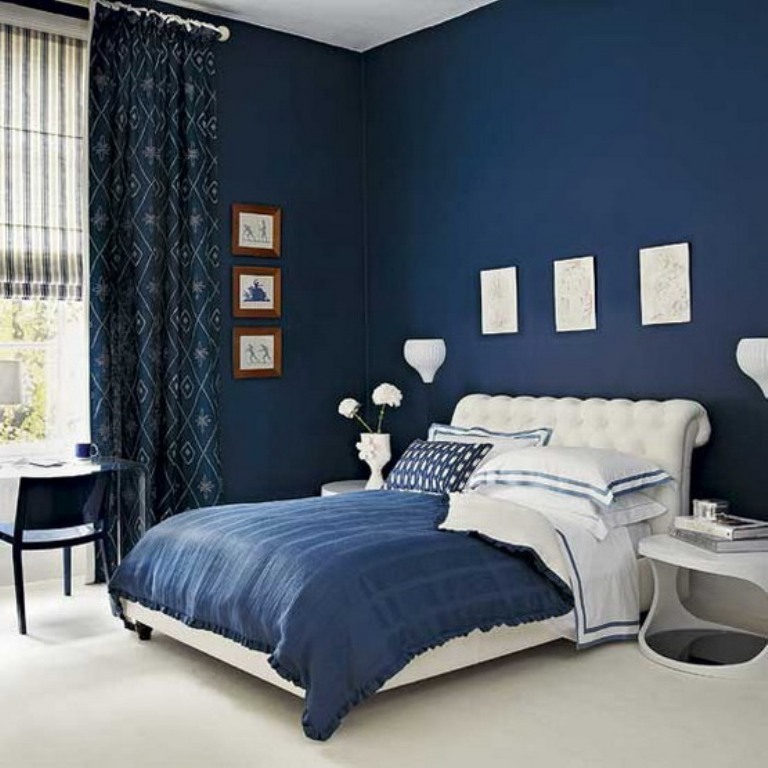 Modern-Bedroom-Designs-in-Deep-Blue-Scheme