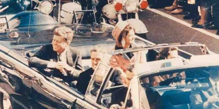 President John F. Kennedy just moments before his death