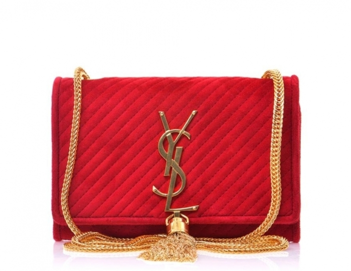 SAINT_LAURENT_bag_red_suede_Cassandre_tassel_ysl