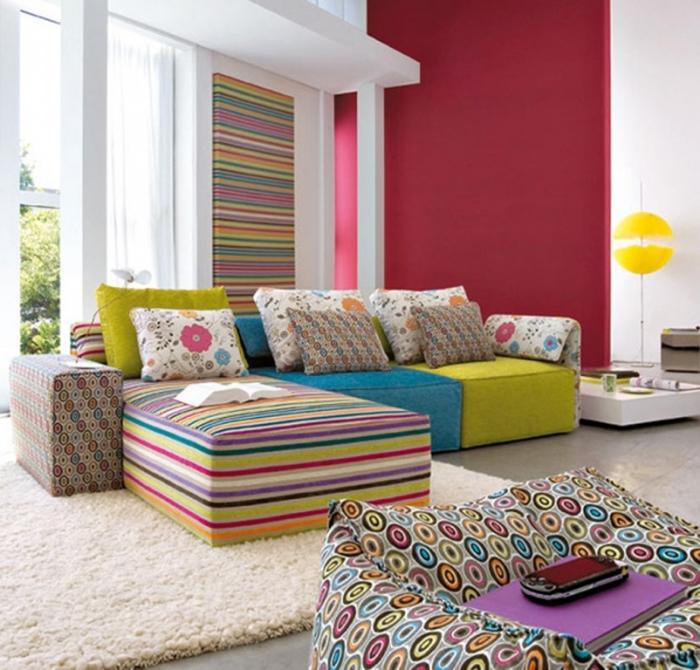Vibrant Family Room Interior Design Idea , Home Interior Design Ideas , smart-Colorful-living-room-interior-designs