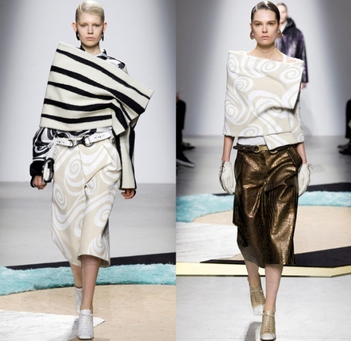 acne-studios-sweden-2014-2015-fall-autumn-winter-paris-pret-a-porter-fashion-womens-runway-cargo-pockets-culottes-wrap-swirls-zebra-anorak-sweaterdress-07x