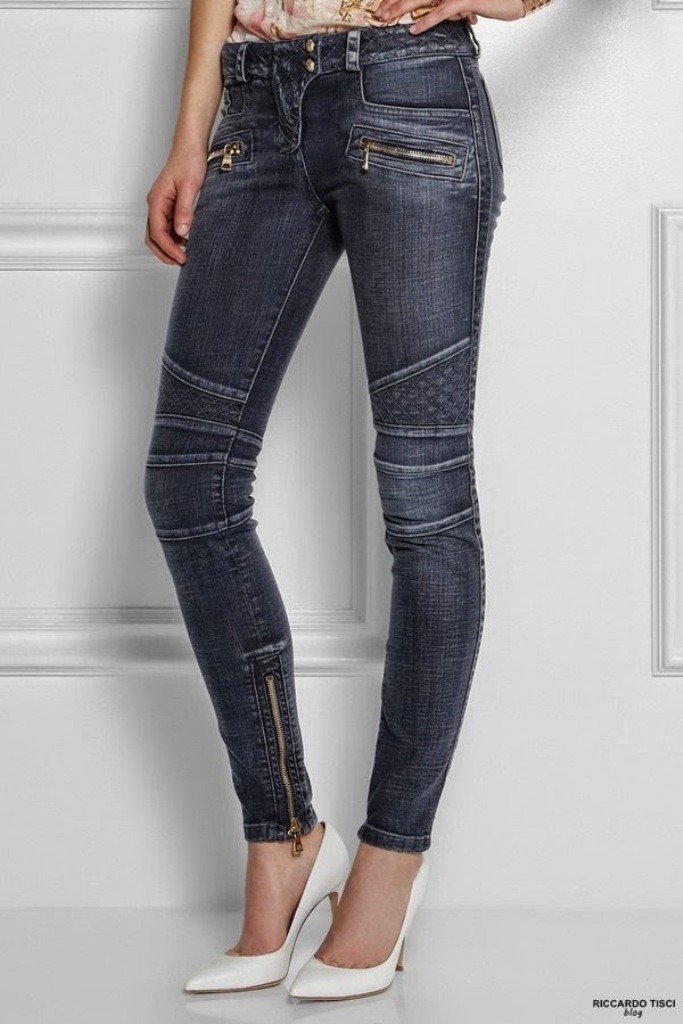 balmain biker jeans motocycle womens collection online quilted 2015 shop net-a-porter luisaviaroma