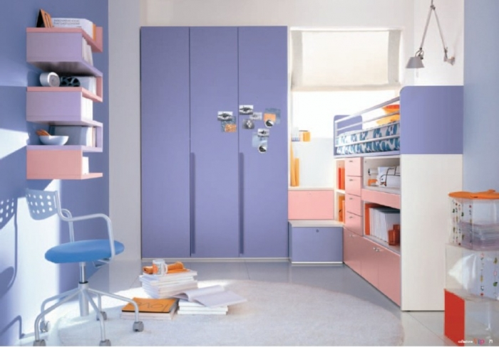 bedroom-cute-periwinkle-and-white-girls-bedroom-decorating-with-periwinkle-built-in-closet-and-simple-storage-solution