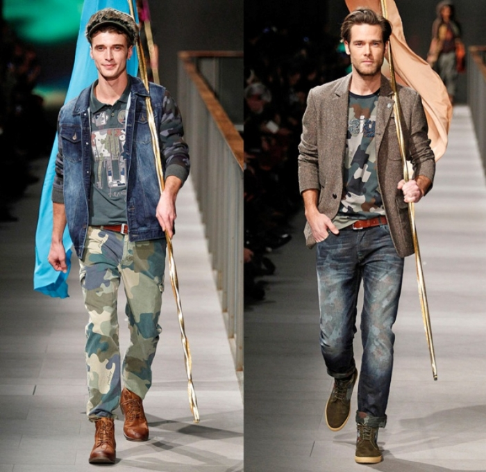 desigual-spain-080-barcelona-2014-2015-fall-autumn-winter-fashion-mens-runway-why-denim-jeans-camouflage-vest-blazer-bomber-jacket-flamingo-graffiti-01x