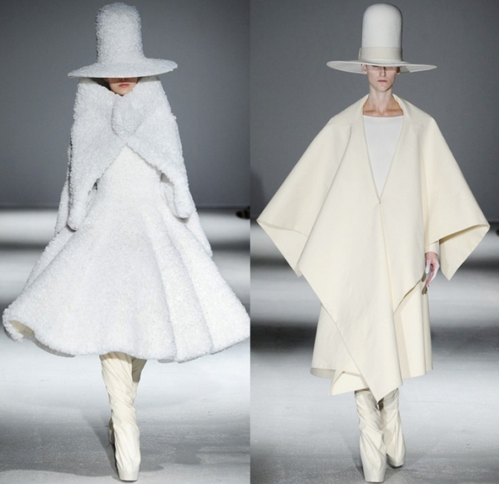 gareth-pugh-2014-2015-fall-autumn-winter-paris-pret-a-porter-fashion-womens-runway-drapery-plastic-white-kimono-robes-funnelneck-ruffles-furry-metallic-01x
