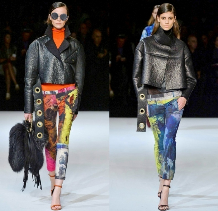just-cavalli-roberto-2014-2015-fall-autumn-winter-milan-fashion-womens-runway-moda-italiana-prints-denim-jeans-art-flowers-coat-fringes-grommets-roosters-05x