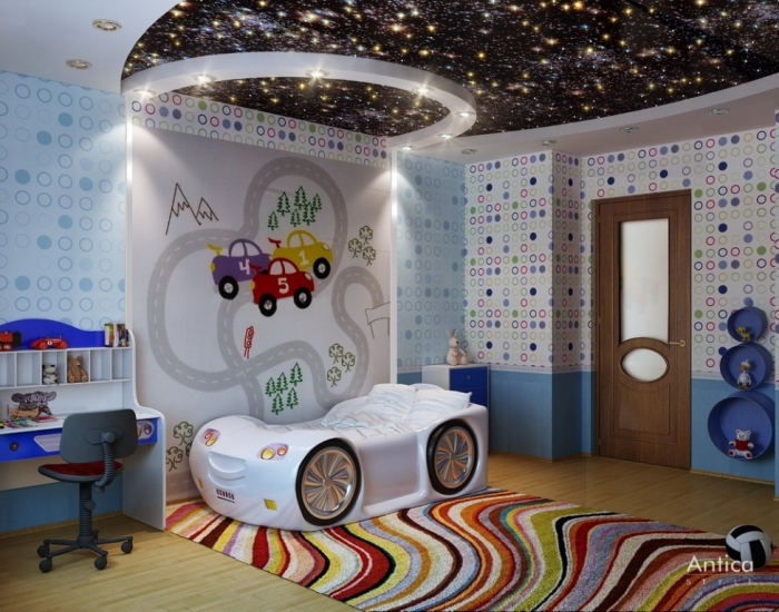 kid-sport-race-car-for-boy-bedroom-interior-design-inspiration
