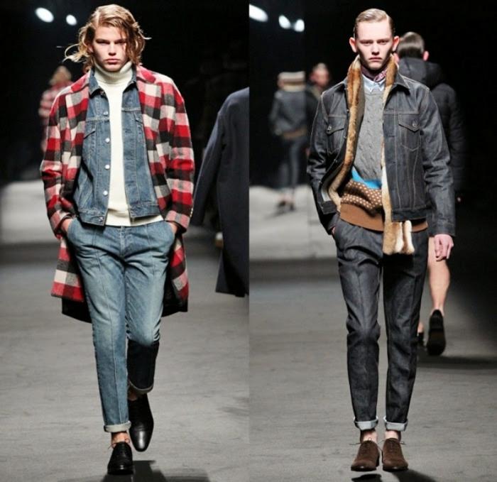mr-gentleman-takeshi-osumi-yuichi-yoshii-2014-2015-fall-autumn-winter-mens-mercedes-benz-fashion-tokyo-denim-jeans-plaid-coat-down-quilted-romper-camo-01x