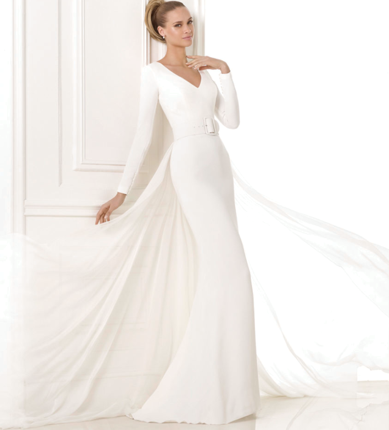 plunging pronovias-wedding-dresses__________