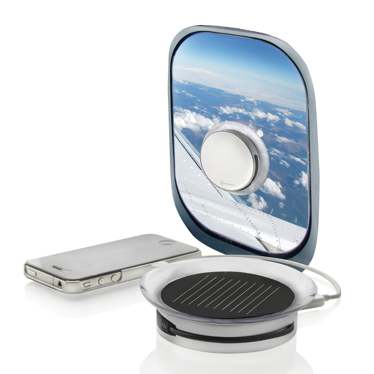 The Port solar charger is the best choice to charge your cell phone while travelling or while being unable to get electricity. This solar charger can be easily stuck to any window that faces the sun to get most of the light.