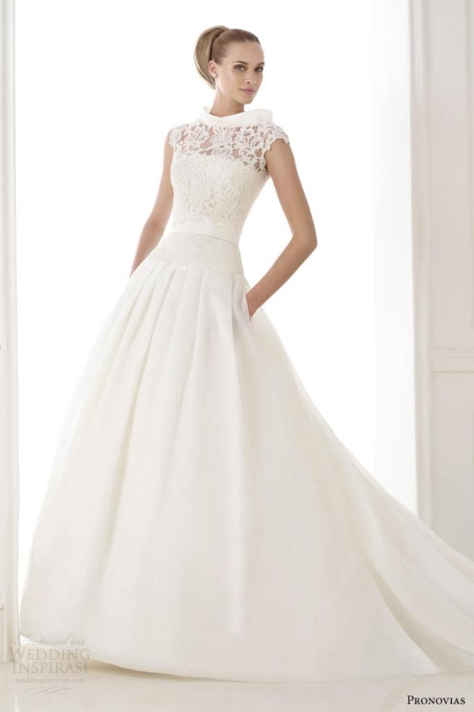 pronovias-atelier-2015-pre-kaethe-strapless-wedding-dress-pockets-lace-jacket