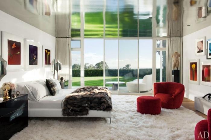 suzy-q-better-decorating-bible-blog-zebra-rug-elton-white-walls-green-sofa-pink-coffee-table-color-blocking-bold-4