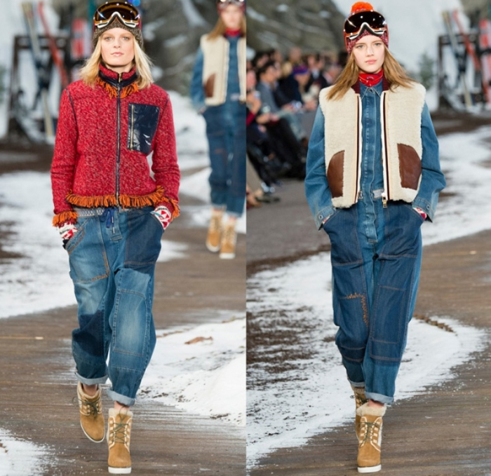 tommy-hilfiger-2014-2015-fall-autumn-winter-fashion-womens-runway-mercedes-benz-fashion-new-york-denim-jeans-fringes-knit-plaid-oversized-coat-western-01x
