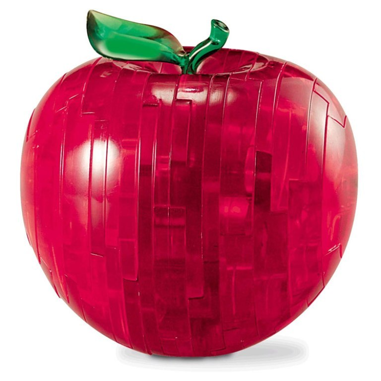 3D Crystal Puzzle apple